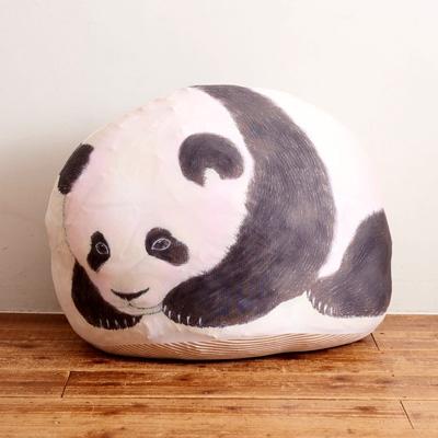 本物みたいな子パンダと寝られる 大きく膨らむクッション収納ケース BOOK