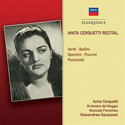 イタリア・オペラ・アリア集 アニタ・チェルクェッティ、ジャナンドレア・ガヴァッツェーニ&フィレンツェ五月祭管弦楽団