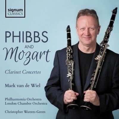 モーツァルト:クラリネット協奏曲、フィブス:クラリネット協奏曲 マーク・ファン・デ・ヴィール、ウォーレン=グリーン&ロンドン室内管、フィルハーモニア管弦楽団