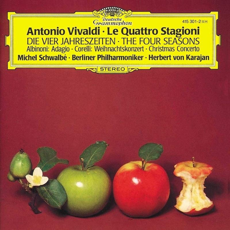 ヴィヴォルディ:四季、アルビノーニのアダージョ、コレッリ:クリスマス協奏曲 ヘルベルト・フォン・カラヤン&ベルリン・フィル、ミシェル・シュヴァルベ