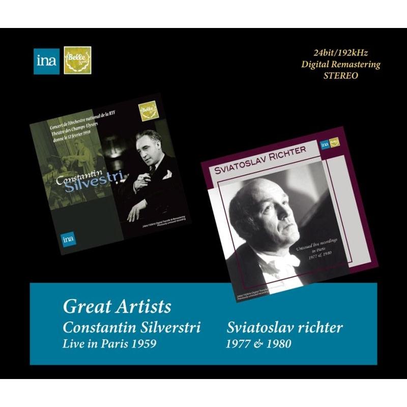 グレイト・アーティスト〜スヴィヤトスラフ・リヒテル(パリ・ライヴ1977、1980)、コンスタンティン・シルヴェストリ&クララ・ハスキル(パリ・ライヴ1959)(4CD)