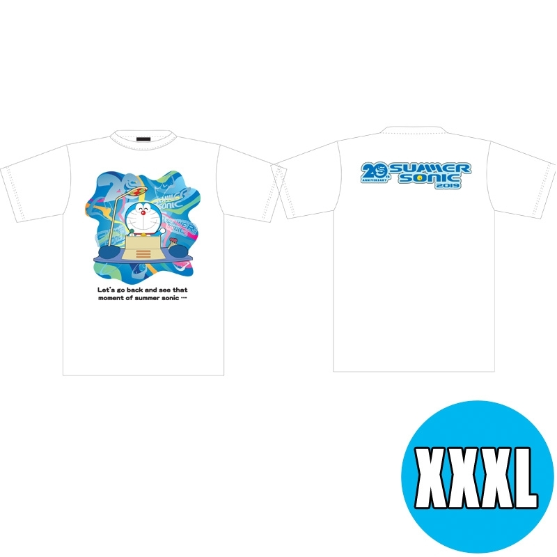 サマソニ×ドラえもんコラボTシャツ WHITE(XXXL) ※事後販売分