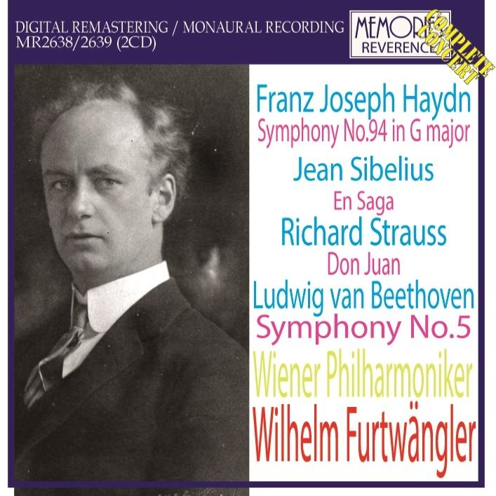 ベートーヴェン:交響曲第5番『運命』、ハイドン:驚愕、シベリウス:伝説、他 ヴィルヘルム・フルトヴェングラー&ウィーン・フィル(1950年ストックホルム)(2CD)