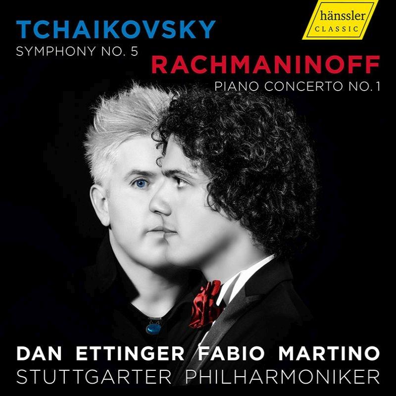 チャイコフスキー:交響曲第5番、ラフマニノフ:ピアノ協奏曲第1番 ダン・エッティンガー&シュトゥットガルト・フィル、ファビオ・マルティーノ
