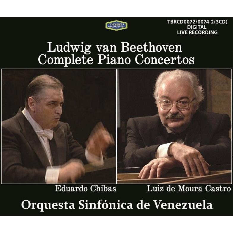 ピアノ協奏曲全集 ルイス・デ・モウラ・カストロ、エドゥアルド・チバス&ベネズエラ交響楽団(3CD)