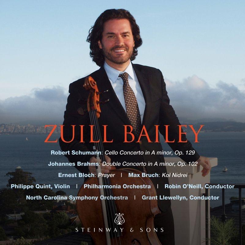 シューマン:チェロ協奏曲、ブラームス:二重協奏曲、ブルッフ:コル・ニドライ、ブロッホ:祈り ズイル・ベイリー、ロビン・オニール&フィルハーモニア管、他