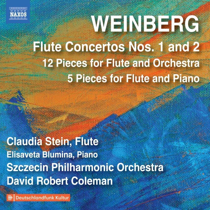 フルートのための作品全集〜フルート協奏曲第1番、第2番、他 クラウディア・シュタイン、コールマン&シュチェチン・フィル、エリザヴェータ・ブルーミナ
