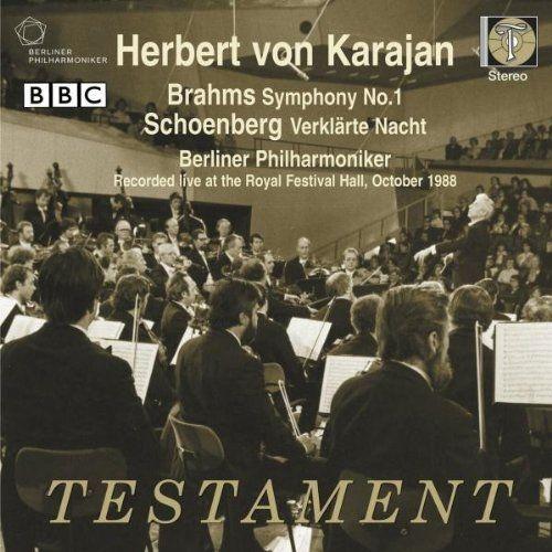 ブラームス:交響曲第1番、シェーンベルク:浄夜 ヘルベルト・フォン・カラヤン&ベルリン・フィル(1988年ステレオ・ライヴ)(日本語解説付)