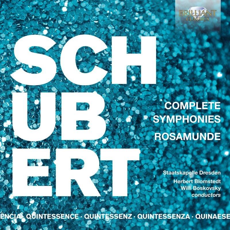 交響曲全集、劇音楽『ロザムンデ』 ヘルベルト・ブロムシュテット、ヴィリー・ボスコフスキー、シュターツカペレ・ドレスデン(5CD)