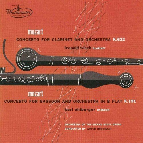クラリネット協奏曲、ファゴット協奏曲 レオポルト・ウラッハ、カール・エールベルガー、アルトゥール・ロジンスキー&ウィーン国立歌劇場管弦楽団