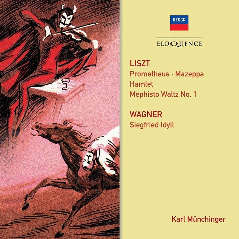 リスト:交響詩集、ワーグナー:ジークフリート牧歌 カール・ミュンヒンガー&パリ音楽院管弦楽団、シュトゥットガルト室内管弦楽団+スイス・ロマンド管弦楽団員