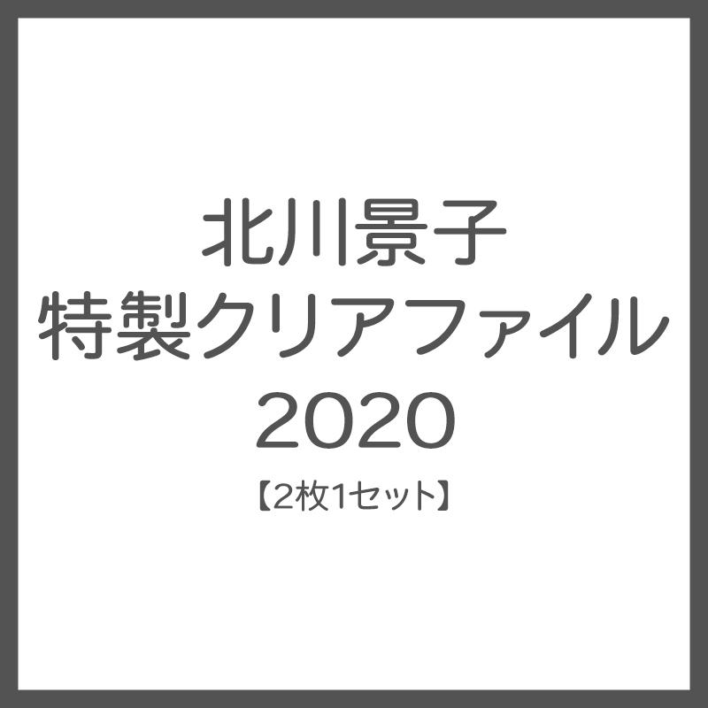 北川景子 特製クリアファイル 2020 【2枚1セット】
