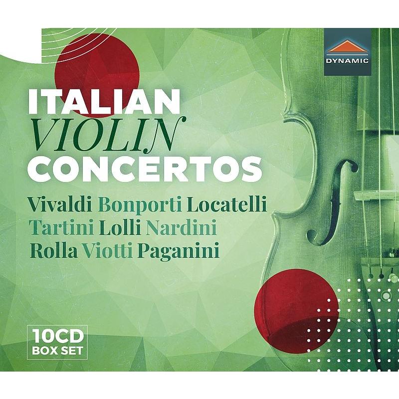 イタリアのヴァイオリン協奏曲集〜ヴィヴァルディ、ボンポルティ、ロカテッリ、タルティーニ、ロッリ、ナルディーニ、ロッラ、ヴィオッティ、パガニーニ(10CD)