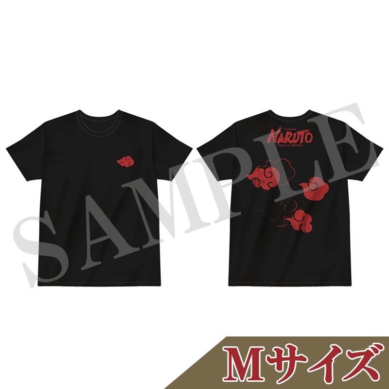 Tシャツ 黒(M)/ ライブ・スペクタクル「NARUTO-ナルト-」〜暁の調べ〜