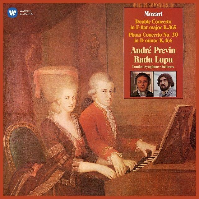 ピアノ協奏曲第20番、2台のピアノための協奏曲 アンドレ・プレヴィン、ロンドン交響楽団、ラドゥ・ルプー