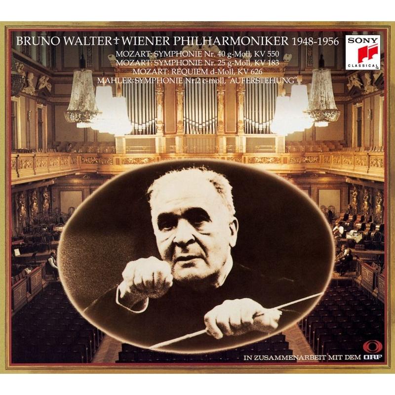 ブルーノ・ワルター&ウィーン・フィル・ライヴ 1948〜1956 モーツァルト:交響曲第40番、第25番、レクィエム、マーラー:交響曲第2番『復活』(3SACD)