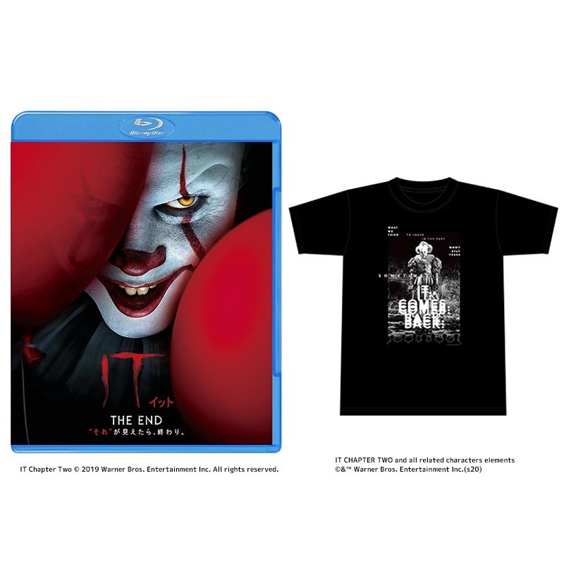 """【初回仕様】IT/イット THE END """"それ""""が見えたら、終わり。 ブルーレイ&DVDセット《HMV限定:オリジナルTシャツ付き(Lサイズ)》※2020/1/16予約〆切"""
