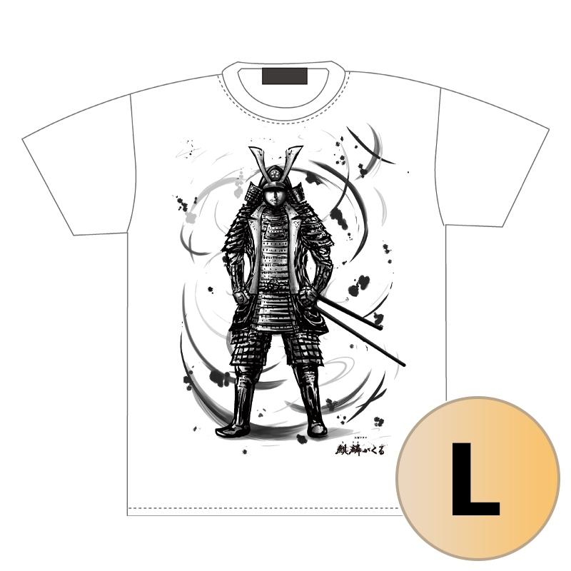 光秀Tシャツ 白(L)/ ドラマ『麒麟がくる』