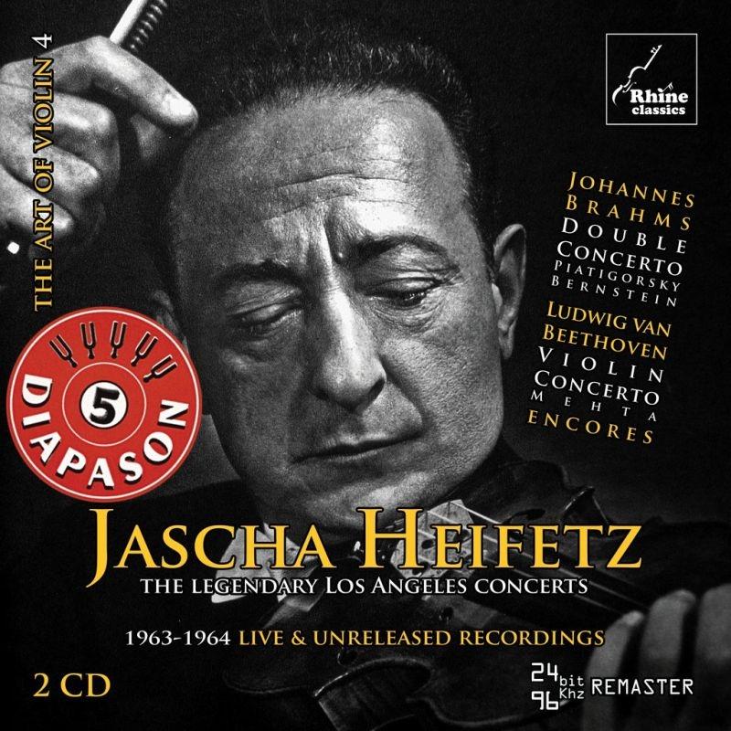 ヤッシャ・ハイフェッツ 伝説のロサンジェルス公演 1963、64年ライヴ&未発表音源(2CD)