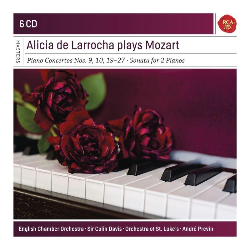 ピアノ協奏曲第20番〜第27番、第19番、第9番、他 アリシア・デ・ラローチャ、コリン・デイヴィス&イギリス室内管弦楽団、アンドレ・プレヴィン、他(6CD)