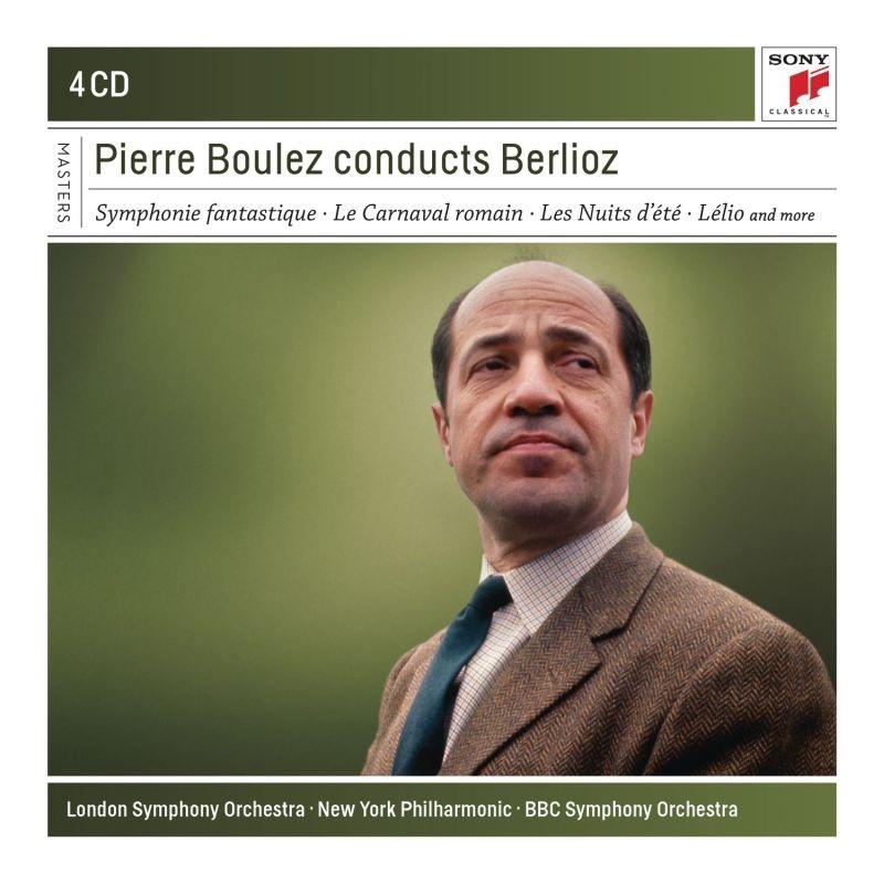 幻想交響曲、レリオ、序曲集、夏の夜、他 ピエール・ブーレーズ&ロンドン交響楽団、ニューヨーク・フィル、イヴォンヌ・ミントン、他(4CD)