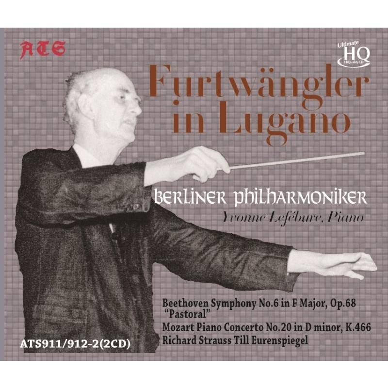 ベートーヴェン:田園、モーツァルト:ピアノ協奏曲第20番、R.シュトラウス:ティル フルトヴェングラー&ベルリン・フィル、ルフェビュール(1954)(2CD)