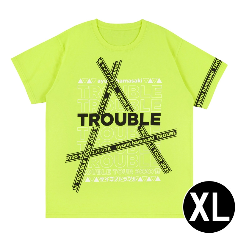 Tシャツ(YELLOW・XL) / ayumi hamasaki TROUBLE TOUR 2020A〜サイゴノトラブル〜
