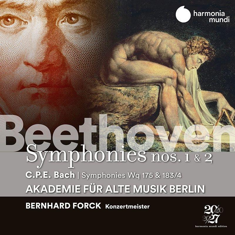 ベートーヴェン:交響曲第1番、第2番、C.P.E.バッハ:交響曲集 ベルリン古楽アカデミー、ベルンハルト・フォルク(コンサートマスター)