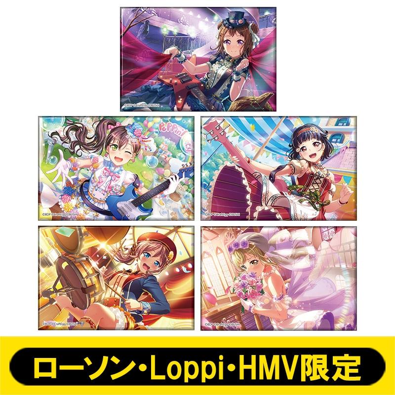 スクエアバッジ5個セットA (Poppin'Party)【ローソン・Loppi・HMV限定】