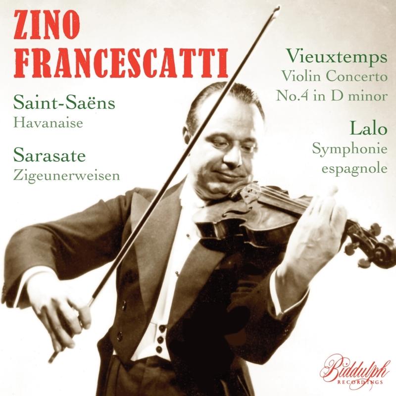 ラロ:スペイン交響曲、ヴュータン:ヴァイオリン協奏曲第4番、他 ジノ・フランチェスカッティ、ミトロプーロス&ニューヨーク・フィル、他(1957)