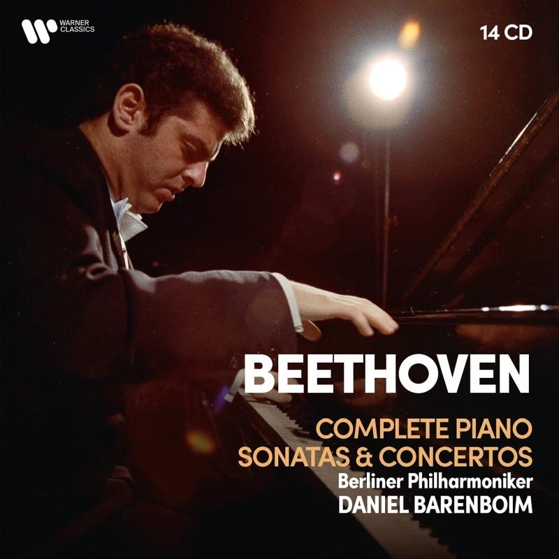 ピアノ・ソナタ全集(1966〜1969)、ピアノ協奏曲全集(1985)、ディアベリ変奏曲(1991) ダニエル・バレンボイム、ベルリン・フィル(14CD)
