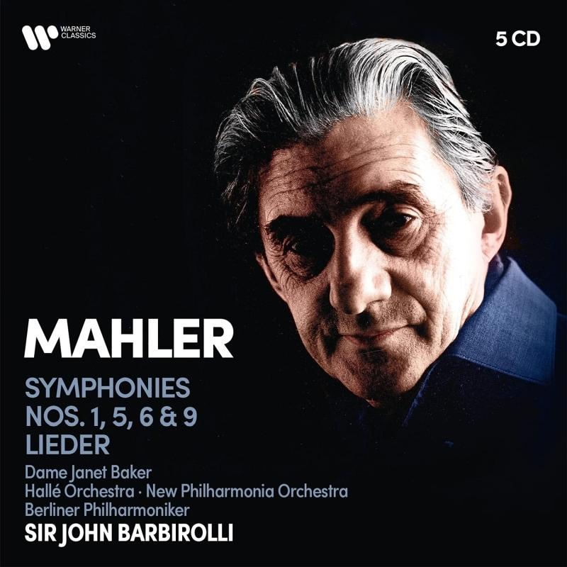 交響曲第1番、第5番、第6番、第9番、歌曲集 ジョン・バルビローリ&ベルリン・フィル、ニュー・フィルハーモニア、ハレ管弦楽団、ジャネット・ベイカー(5CD)