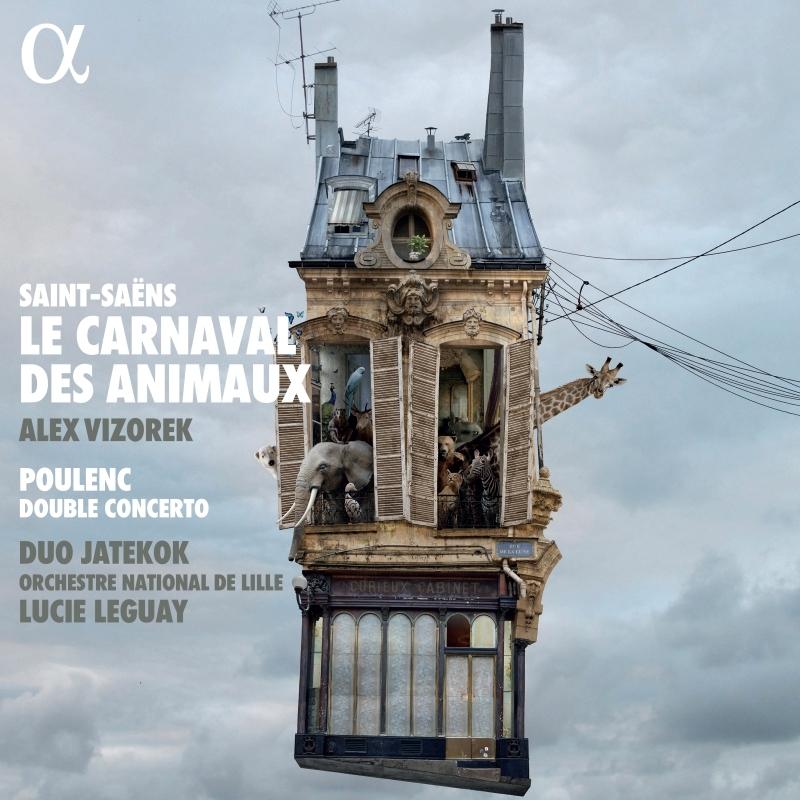 サン=サーンス:動物の謝肉祭、死の舞踏、プーランク:2台のピアノのための協奏曲 デュオ・ヤテコック、リュシー・ルゲ&リール国立管弦楽団