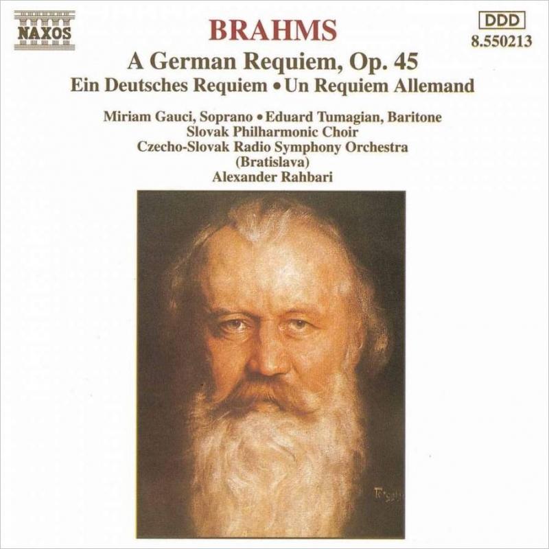 ドイツ・レクィエムOp.45 ガウチ/トゥマジャン/ラハバリ/スロヴァキアフィル合唱団,