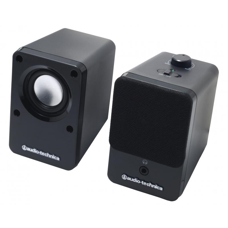 オーディオテクニカ アクティブスピーカー AT-SP102 BK (ブラック)