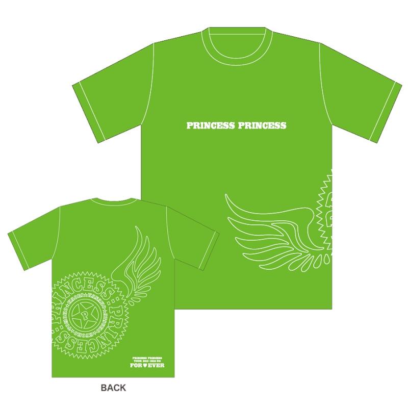 ライム(XL)Tシャツ/PRINCESS PRINCESS TOUR 2012-2016 再会 -FOR EVER-