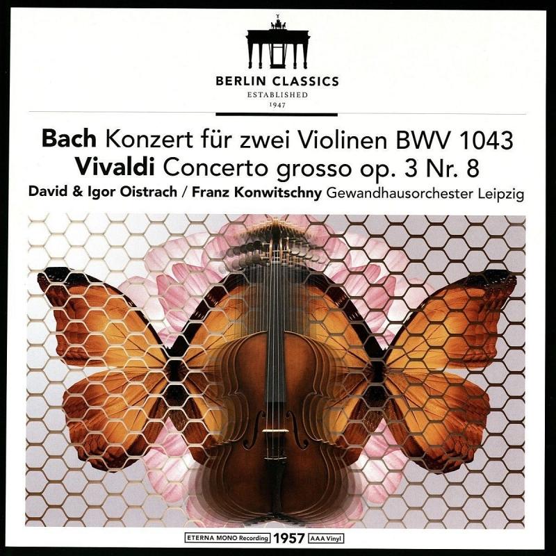J.S.Bach Double Concerto, Vivaldi Concerto Op.3-8 : David Oistrakh, Igor Oistrakh(Vn)Franz Konwitschny / Gewandhaus Orchestra