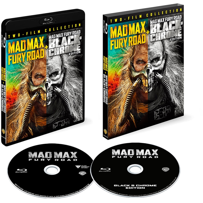 stocks at physical hmv store mad max fury road black and chrome