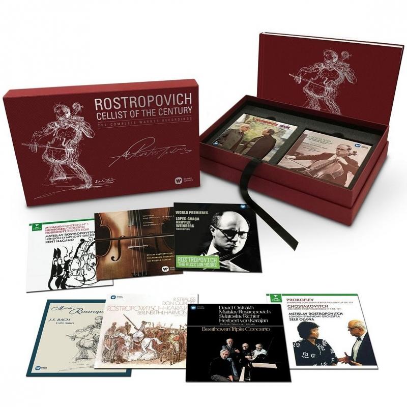 世紀のチェリスト〜ムスティスラフ・ロストロポーヴィチ、ワーナー録音全集(40CD+3DVD)