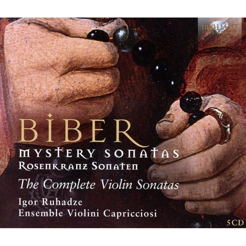ヴァイオリン・ソナタ全集〜『ロザリオのソナタ』全曲、他 イーゴリ・ルハーゼ、アンサンブル・ヴァイオリーニ・カプリチオージ(5CD)