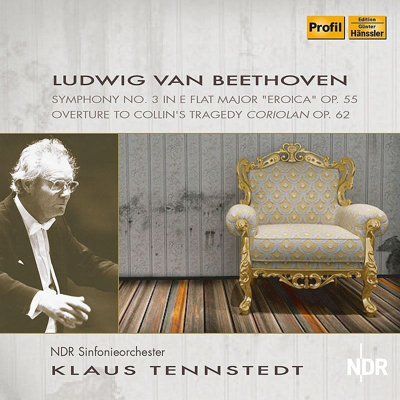 交響曲第3番『英雄』、序曲『コリオラン』 クラウス・テンシュテット&北ドイツ放送交響楽団(1979 ステレオ)