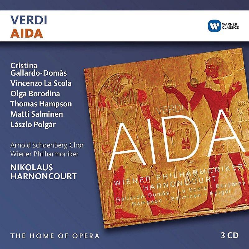 『アイーダ』全曲 ニコラウス・アーノンクール&ウィーン・フィル、ガイヤルド=ドマス、ラ・スコーラ、他(2001 ステレオ)(3CD)