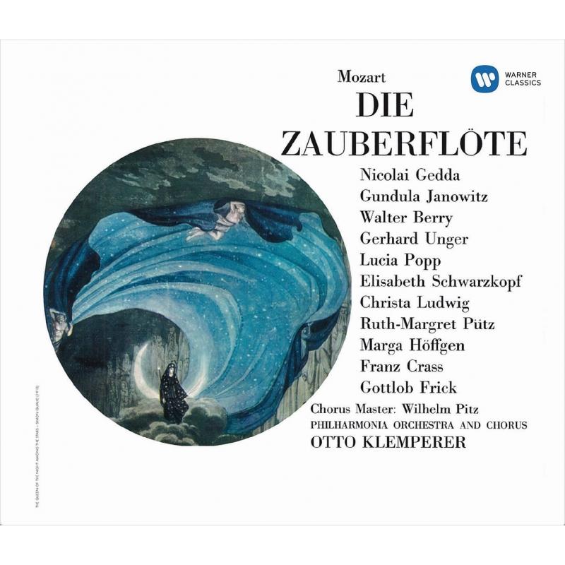 『魔笛』全曲 オットー・クレンペラー&フィルハーモニア管弦楽団、グンドゥラ・ヤノヴィッツ、ルチア・ポップ、他(1964 ステレオ)(2SACD)(シングルレイヤー)