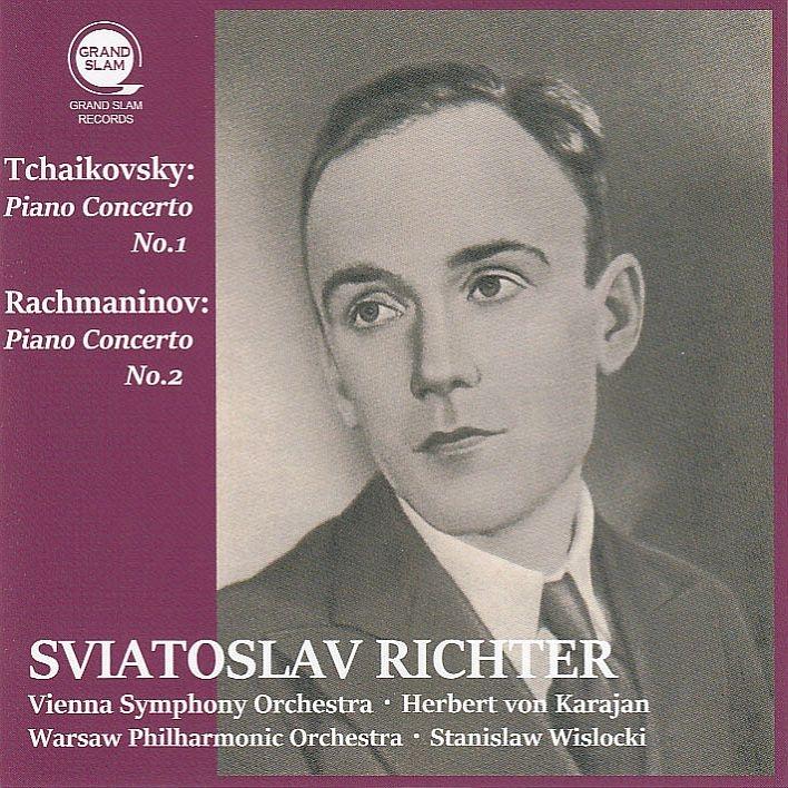 チャイコフスキー:ピアノ協奏曲第1番、ラフマニノフ:ピアノ協奏曲第2番 スヴィヤトスラフ・リヒテル、カラヤン指揮、ヴィスロツキ指揮(平林直哉復刻)