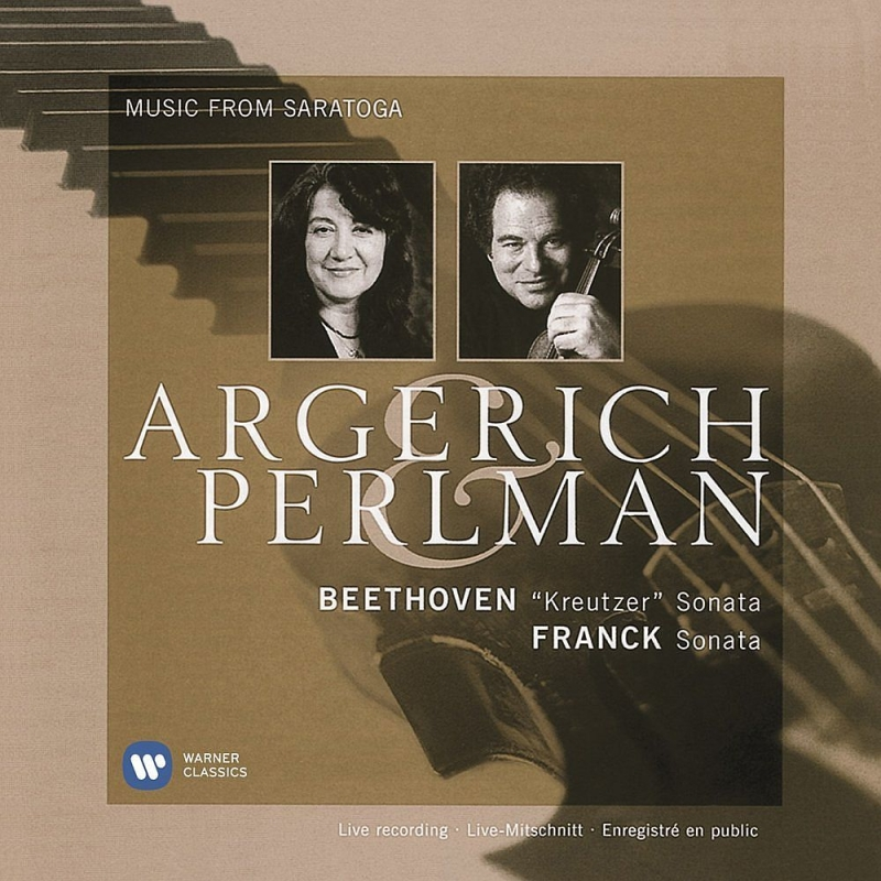 Saratoga Live-beethoven, Franck, Schumann, J.s.bach: Perlman(Vn)Argerich(P)(Uhqcd)