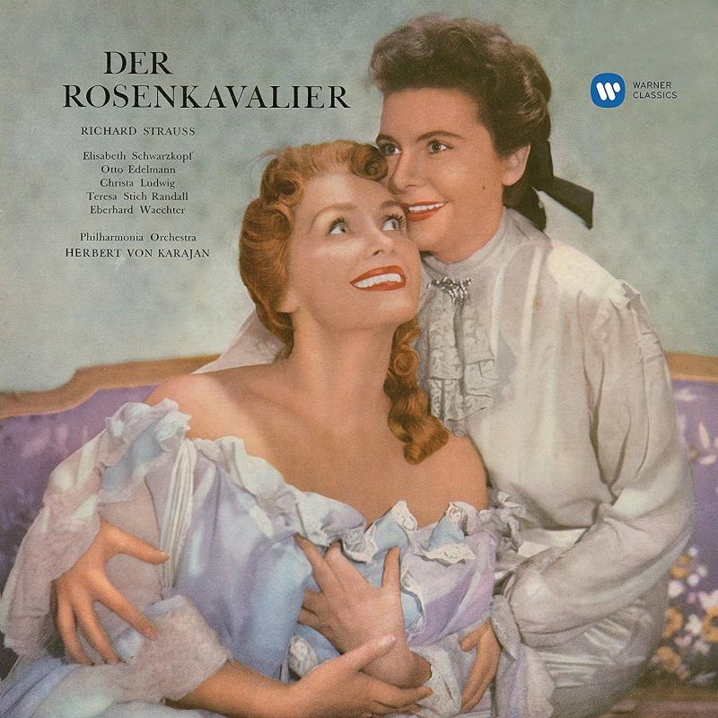 『ばらの騎士』全曲 ヘルベルト・フォン・カラヤン&フィルハーモニア管、シュヴァルツコップ、ルートヴィヒ、他(1956 ステレオ)(3CD)