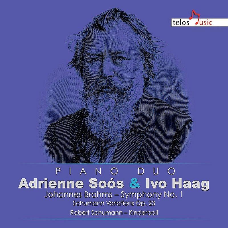 交響曲第1番(4手ピアノ版)、シューマンの主題による変奏曲、他 アドリエンネ・ショオーシュ&イヴォ・ハアグ