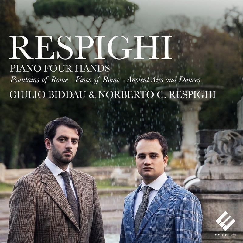 ローマの松、ローマの噴水、古風な舞曲とアリア第1組曲、第2組曲(ピアノ連弾版) ジュリオ・ビッダウ&ノルベルト・レスピーギ