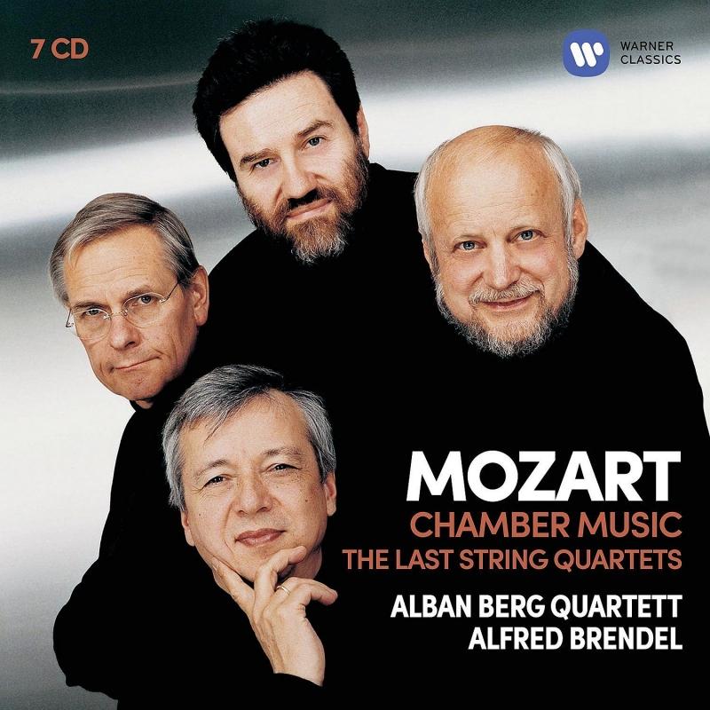 後期弦楽四重奏曲集、弦楽五重奏曲集、ピアノ四重奏曲第2番、他 アルバン・ベルク四重奏団、アルフレート・ブレンデル、他(7CD)
