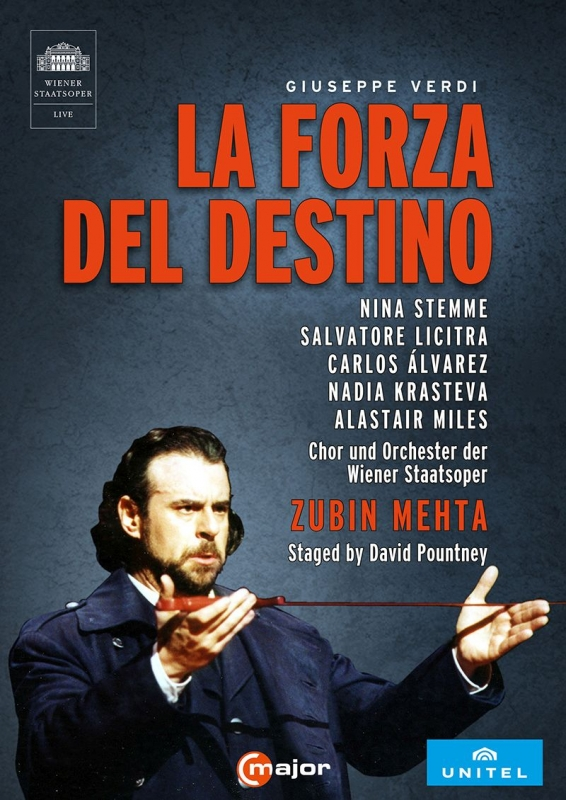 『運命の力』全曲 パウントニー演出、ズービン・メータ&ウィーン国立歌劇場、サルヴァトーレ・リチートラ、ニーナ・シュテンメ、他(2008 ステレオ)(2DVD)